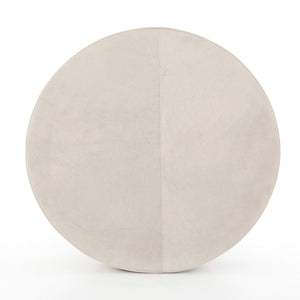 four hands sinclair large ottoman oyster overhead view