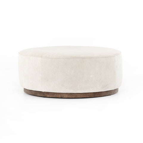 four hands sinclair large ottoman oyster