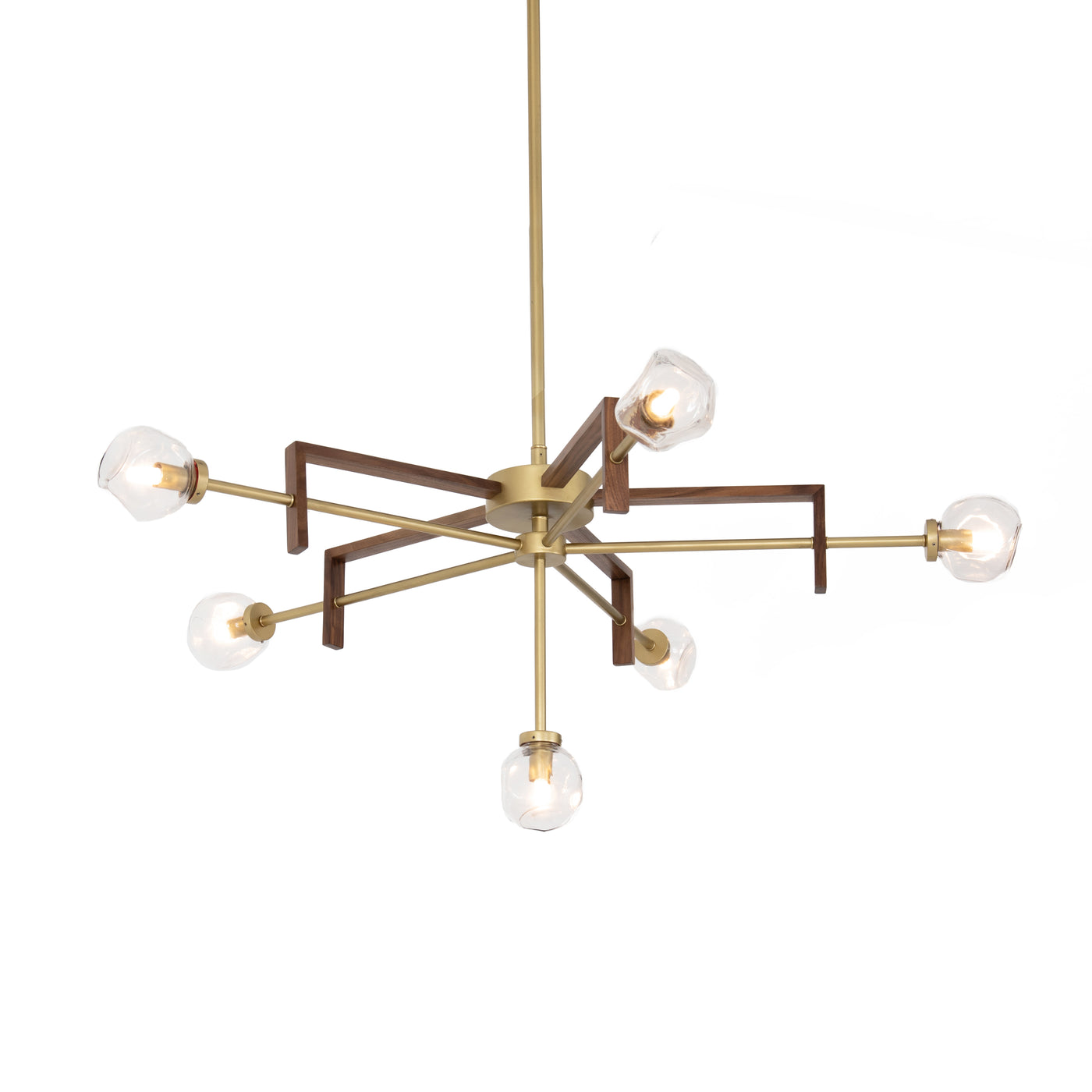 four hands sterling chandelier illuminated