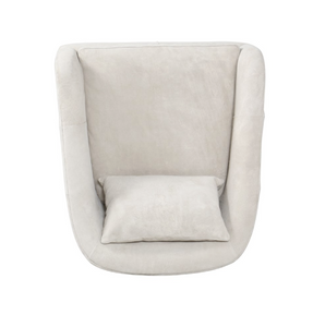 Four Hands Topanga Chair Whistler Oyster Suede Tan