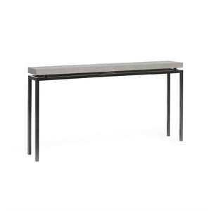 made goods benjamin narrow console silver and black