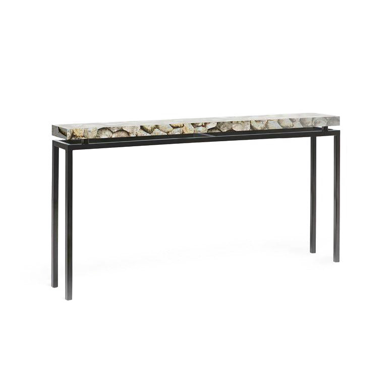 made goods benjamin console mother of pearl and black narrow