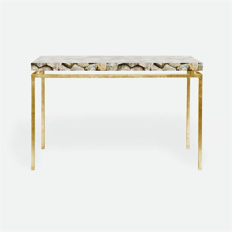 made goods benjamin console silver mother of pearl and gold