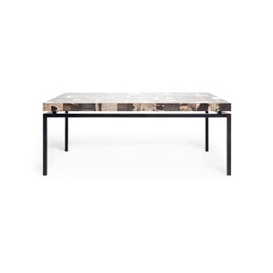 made goods benjamin coffee table black and dark mix petrified wood
