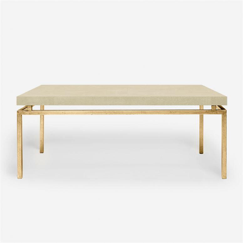 made goods benjamin coffee table gold and ivory