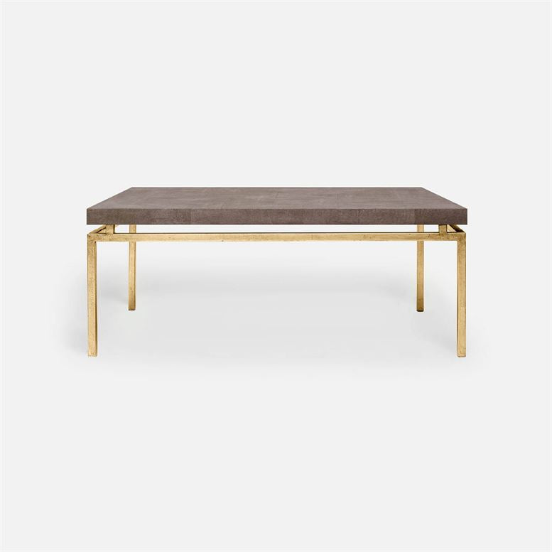 made goods benjamin coffee table gold and dark mushroom