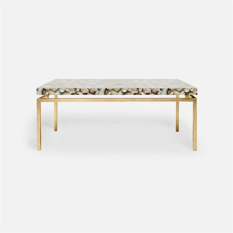 made goods benjamin coffee table gold and mother of pearl