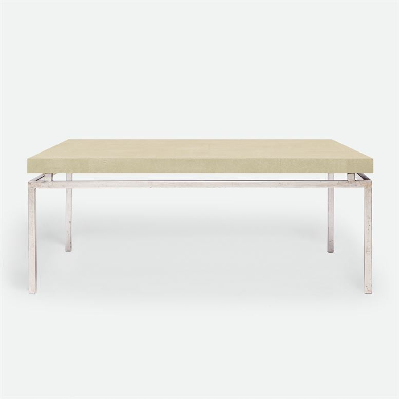 made goods benjamin coffee table ivory and silver