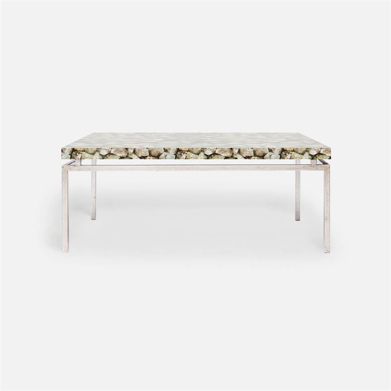 made goods benjamin coffee table mother of pearl and silver