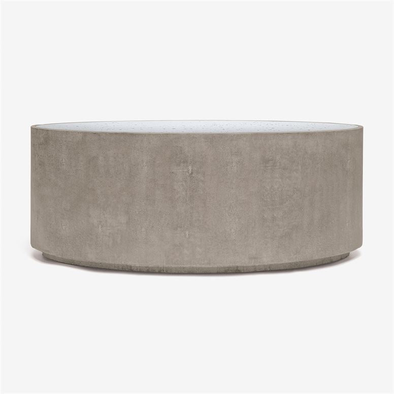 made goods cara oval coffee table sand shagreen