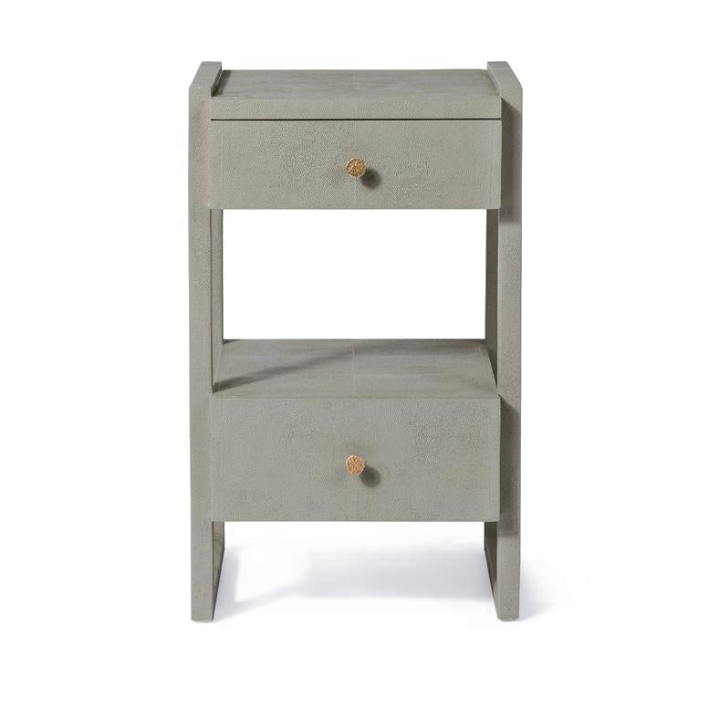 made goods carrigan single nightstand castor grey vintage faux shagreen