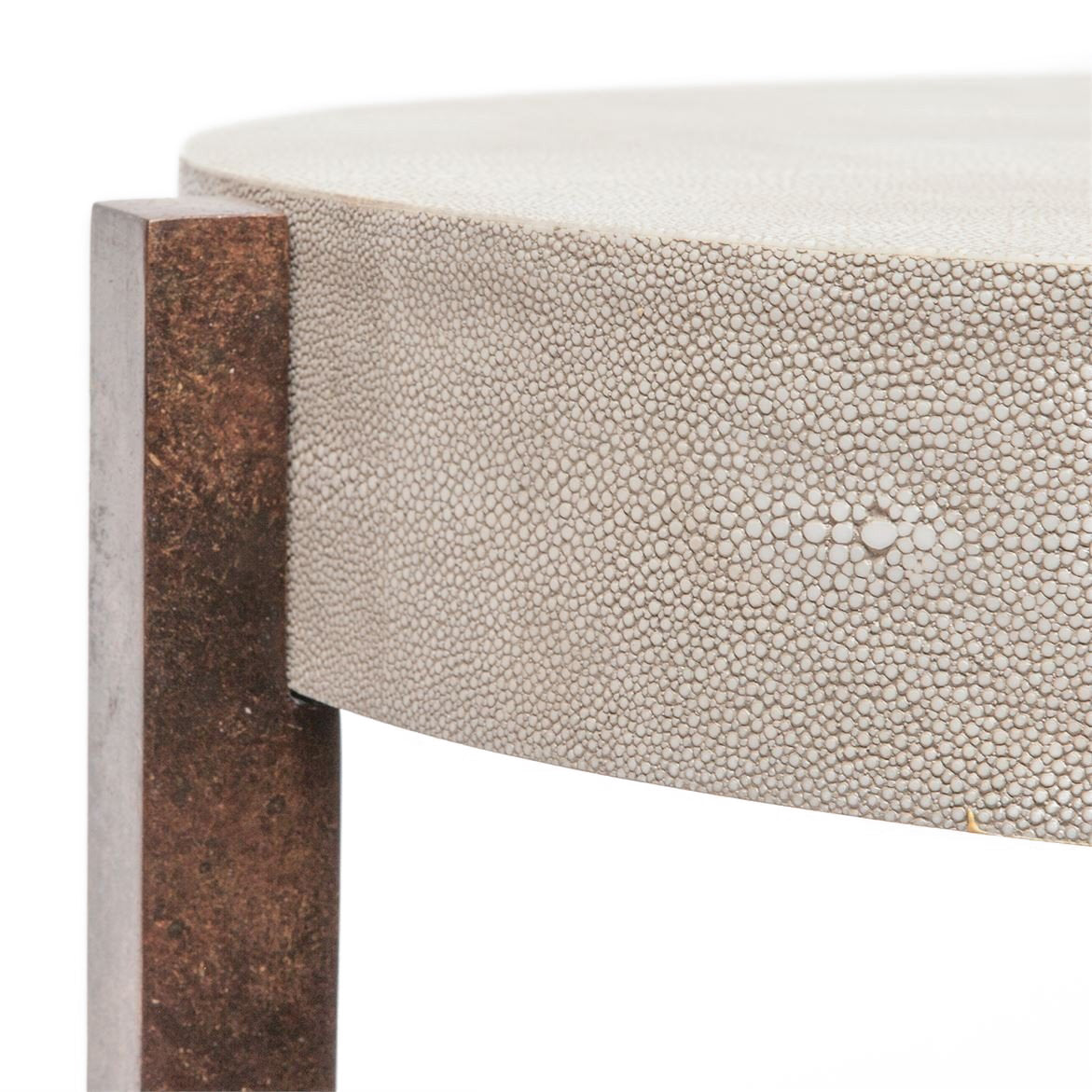 made goods dexter coffee table sand bronze faux shagreen coffee table unique coffee table detail