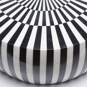 made goods Janson black white coffee table round