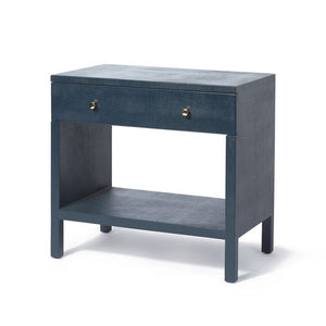 Made Good Maris Double Nightstand True Navy Faux Belgian Linen side