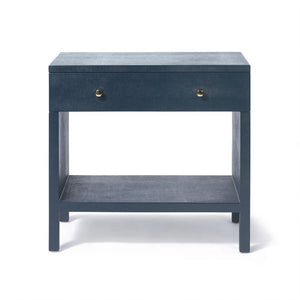 Made Good Maris Double Nightstand True Navy Faux Belgian Linen