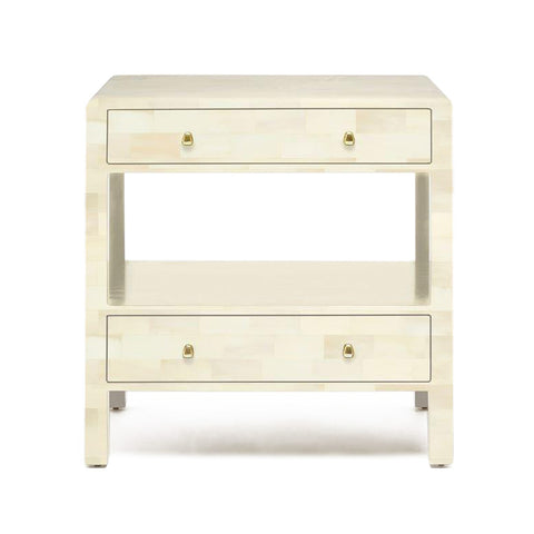 made goods yaren ivory faux horn double nightstand