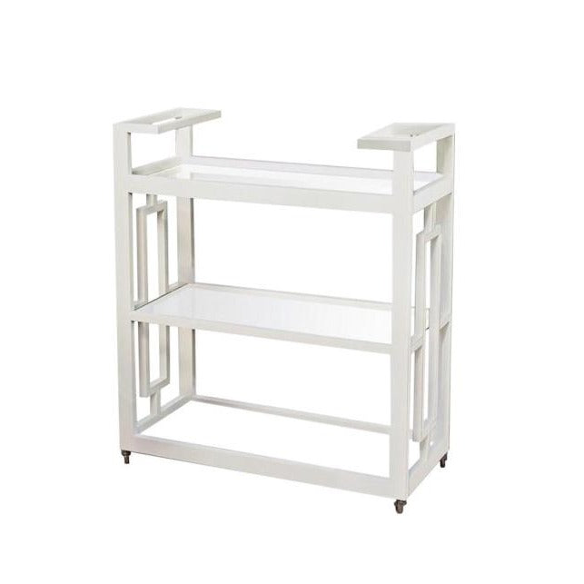 Grid Block Bar Cart White
