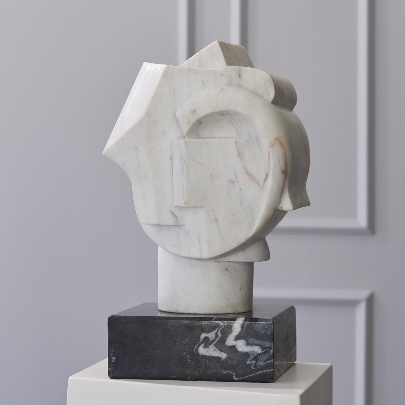 global views abstract bust front