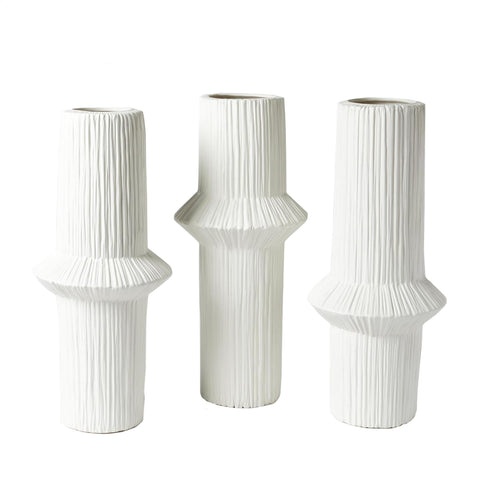 global views ascending ring vases matte white