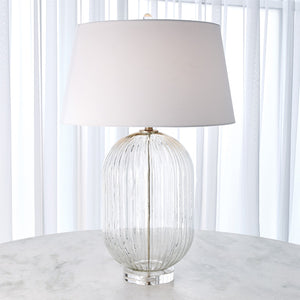 global views ribbed clear lamp