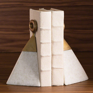 global views equestrian bookends marble white shelving