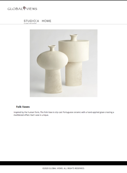 global views folk vase set tearsheet
