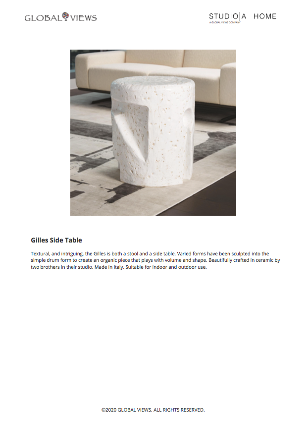 global views gilles side  table tearsheet