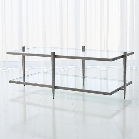 global views laforge cocktail table natural iron