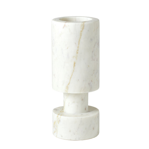 global views luc vase white marble