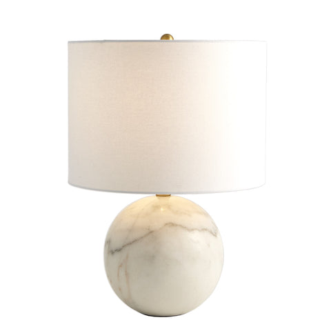 global views marble sphere lamp