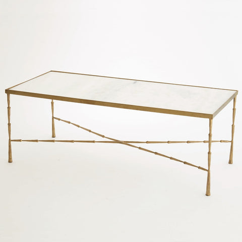 global views spike cocktail table brass angle