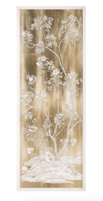 Natural Curiosities Gold Tree Panel 1 Paper Leaf Acrylic Art
