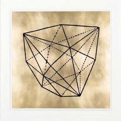 natural curiosities krystalle 1 gold leaf square geometric
