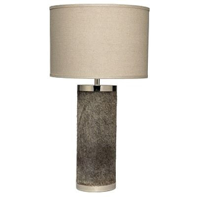 Jamie Young Column Table Lamp Faux Hide