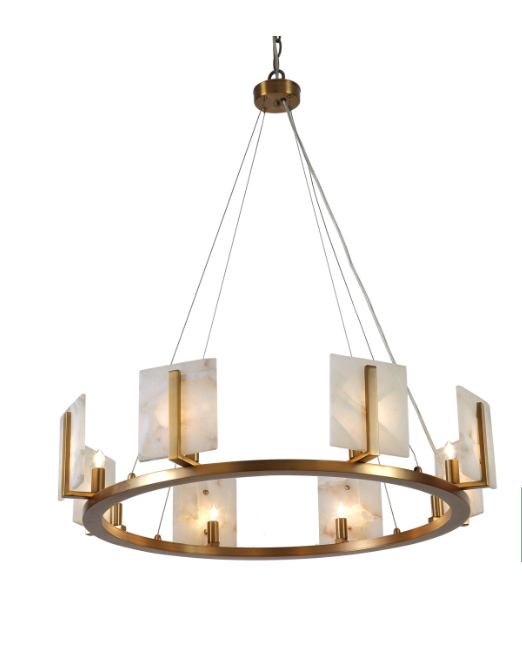 Jamie Young Halo Chandelier Gold Lighting Hanging Fixture