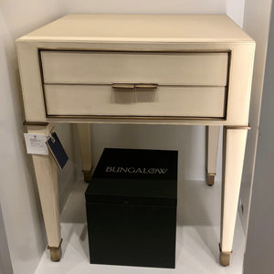 bungalow 5 hunter 2 drawer side table ivory storage bedroom