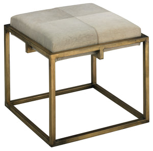 jamie young shelby stool white hide