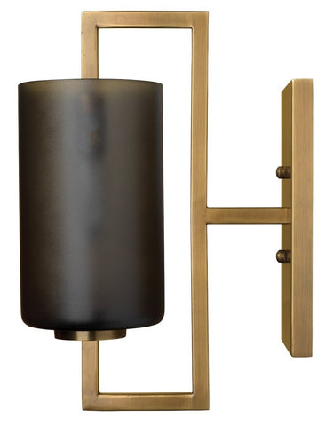 jamie young blueprint sconce grey and antique brass