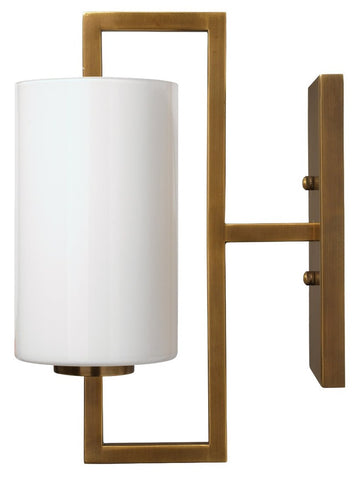 jamie young blueprint sconce brass side