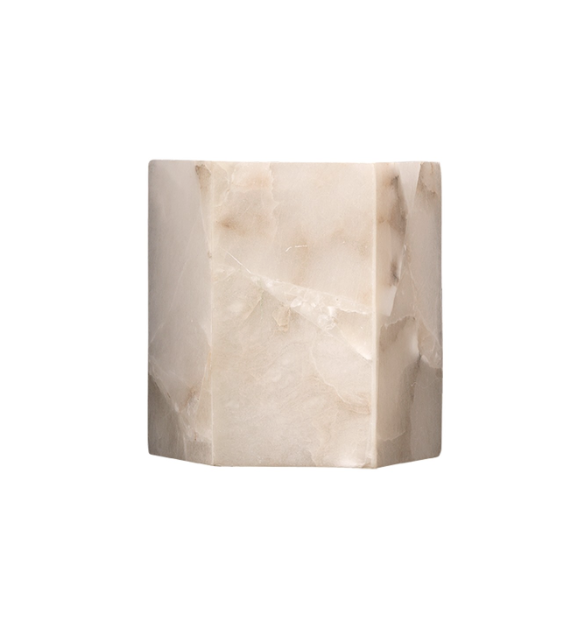Jamie Young Borealis Hexagon Sconce Alabaster Tan Lighting