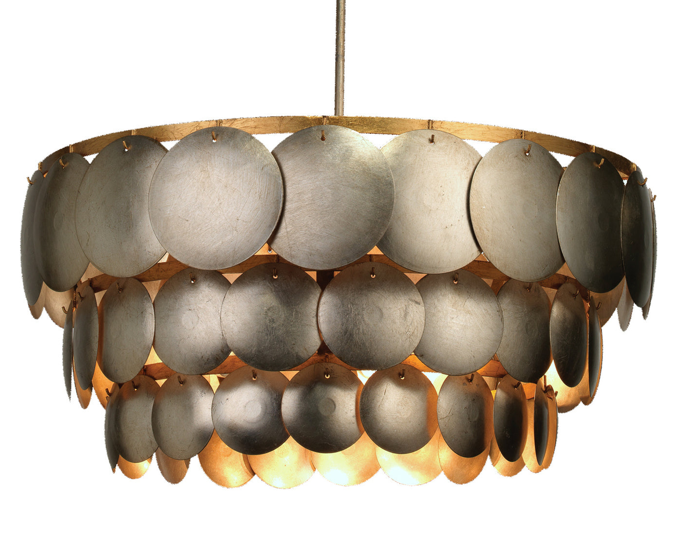 jamie young calypso chandelier illuminated