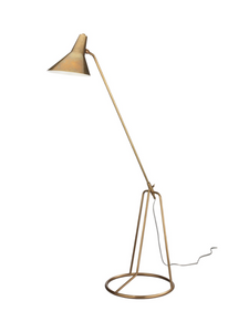 Jamie Young Franco Floor Lamp Brass Gold Lighting Antique Brass