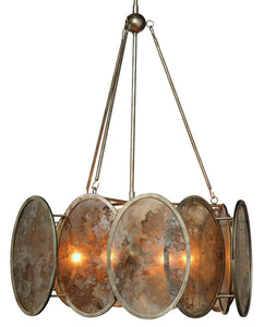 jamie young galaxy chandelier illuminated