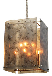 jamie young gravity lantern chandelier illuminated