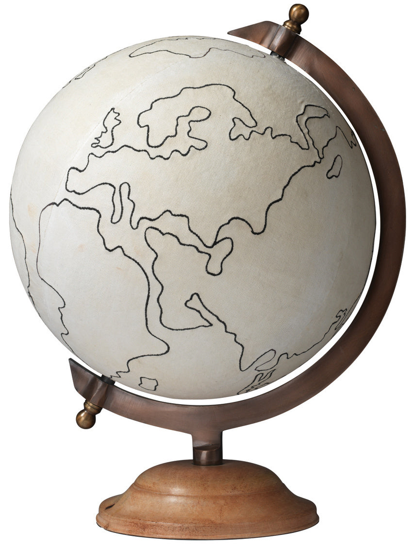 jamie young large canvas globe