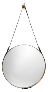 jamie young large round mirror brass