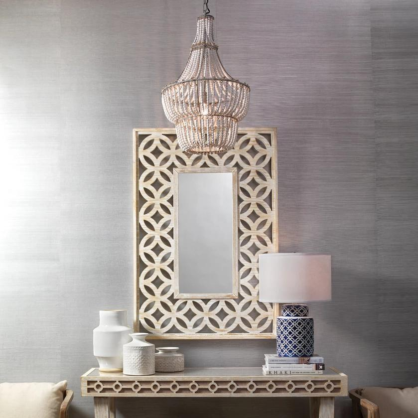 jamie young ls blanca chandelier styled