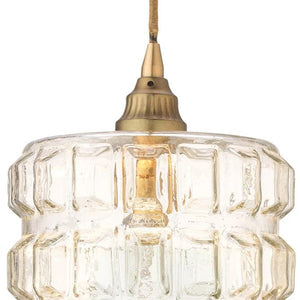 jamie young madison pendant brass illuminated