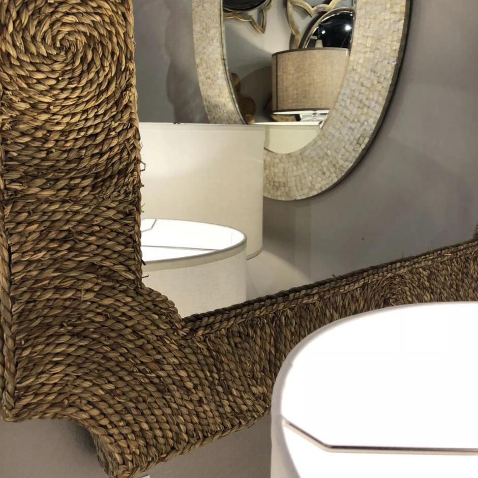 jamie young marina mirror styled in room