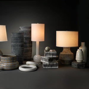 jamie young masonry table lamp styled